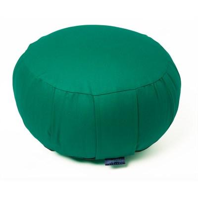 Zafu meditaatiotyyny -KAPOK täyte ja irrotettava päällinen – vihreä 1300g