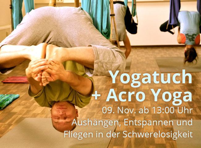 Yogatuch und Acro Yoga am 9. November