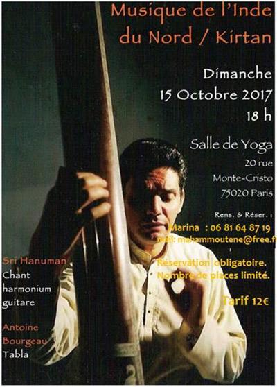Concert musique de l'inde du nord / Kirtan