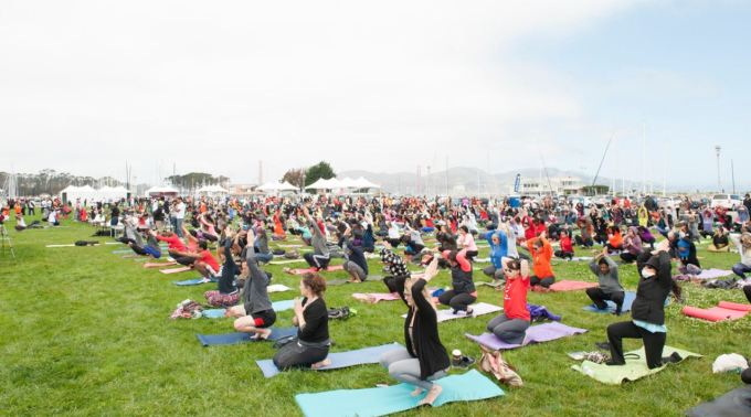 International Yoga Day, 2015, Marina, San Francisco