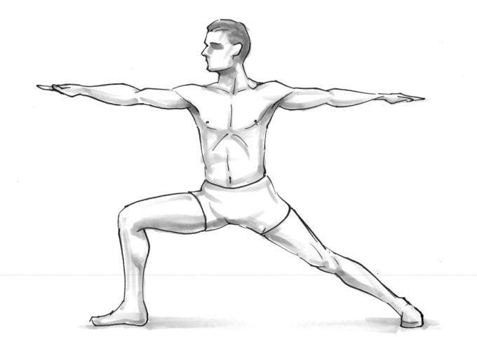 Warrior Pose - Veerabhadrasana Virabhadrasana