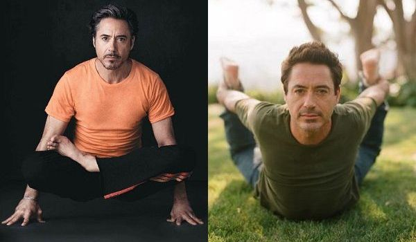 Robert Downey Jr Doing Yoga