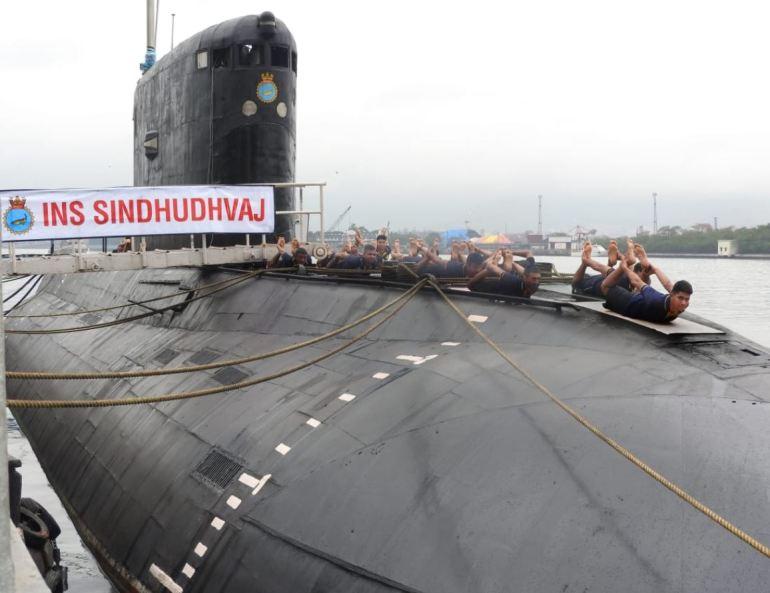 Eastern Naval Command Doing Yoga
