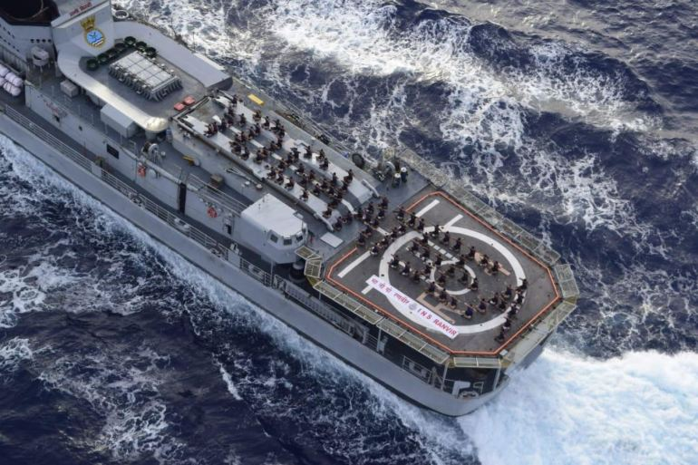 Yoga at Sea - Indian Navy