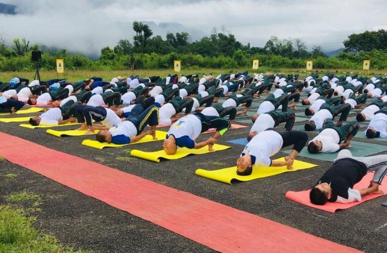 Yoga at India-Myanmar Border