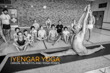 BKS Iyengar doing yoga