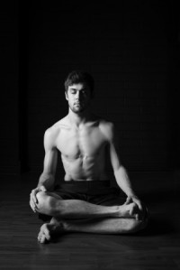 Jake Gilmour in seated pose