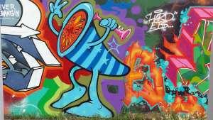 Annette Bauer, Yogannetteblog.de, Grafiiti-Kunst Tröte