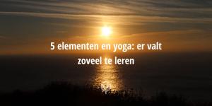 vijf elementen yoga leren blog