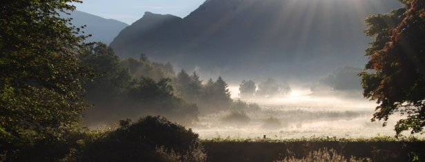 Mist in the valley from the Yoga retreats centre