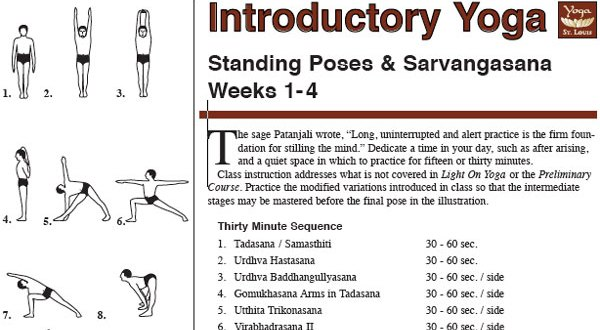 Introductory Iyengar Yoga Sequence
