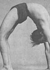 BKS Iyengar in Urdhva Dhanurasana (from Light on Yoga)