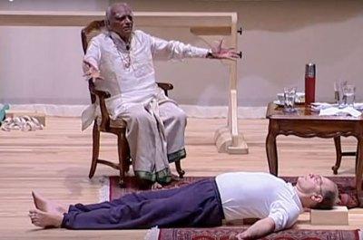 BKS Iyengar teaches Yoga for Depression at Estes Park, 2005