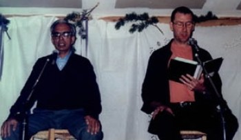 Desikachar and Paul Chanting in 1999