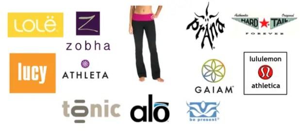 Yoga Clothing Brands Logos Viewyoga