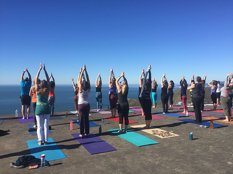 Sausalito California Yoga Hikes
