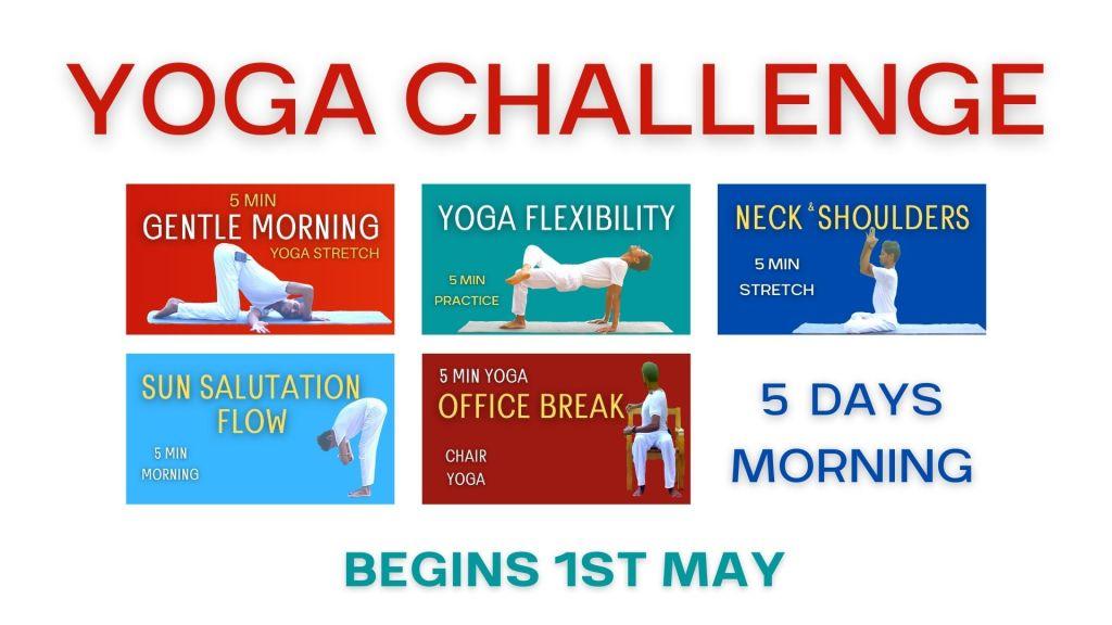 5 min morning yoga challenge