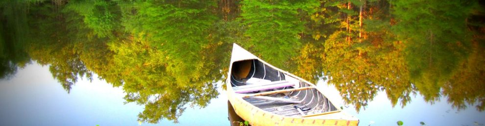 Keep Cool This Summer with Some Great Tips from Angelina Fox, ERYT500, YACEP, Ayurveda Health Counselor. Image of canoe.