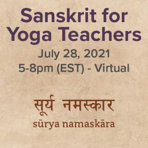 Product Image Sanskrit for Yoga Teachers July 28 5-8pm EST iwth Yoga and Wellness with Angelina Fox, ERYT500, YACEP, Yoga Teacher and Ayurveda Health Counselor in Northern Virginia and Washington DC