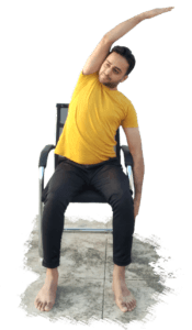 Seated Side Stretch - Yoga with Ankush