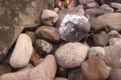 Barefeet and rocks