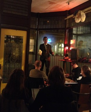 Michael Begley performs at 'Utter Lutonia!' in Marjorie's.