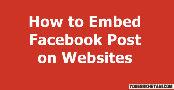 Embed Facebook Post
