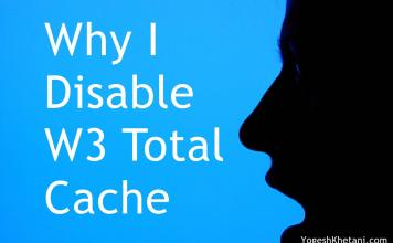 Disable W3 Total Cache Plugin