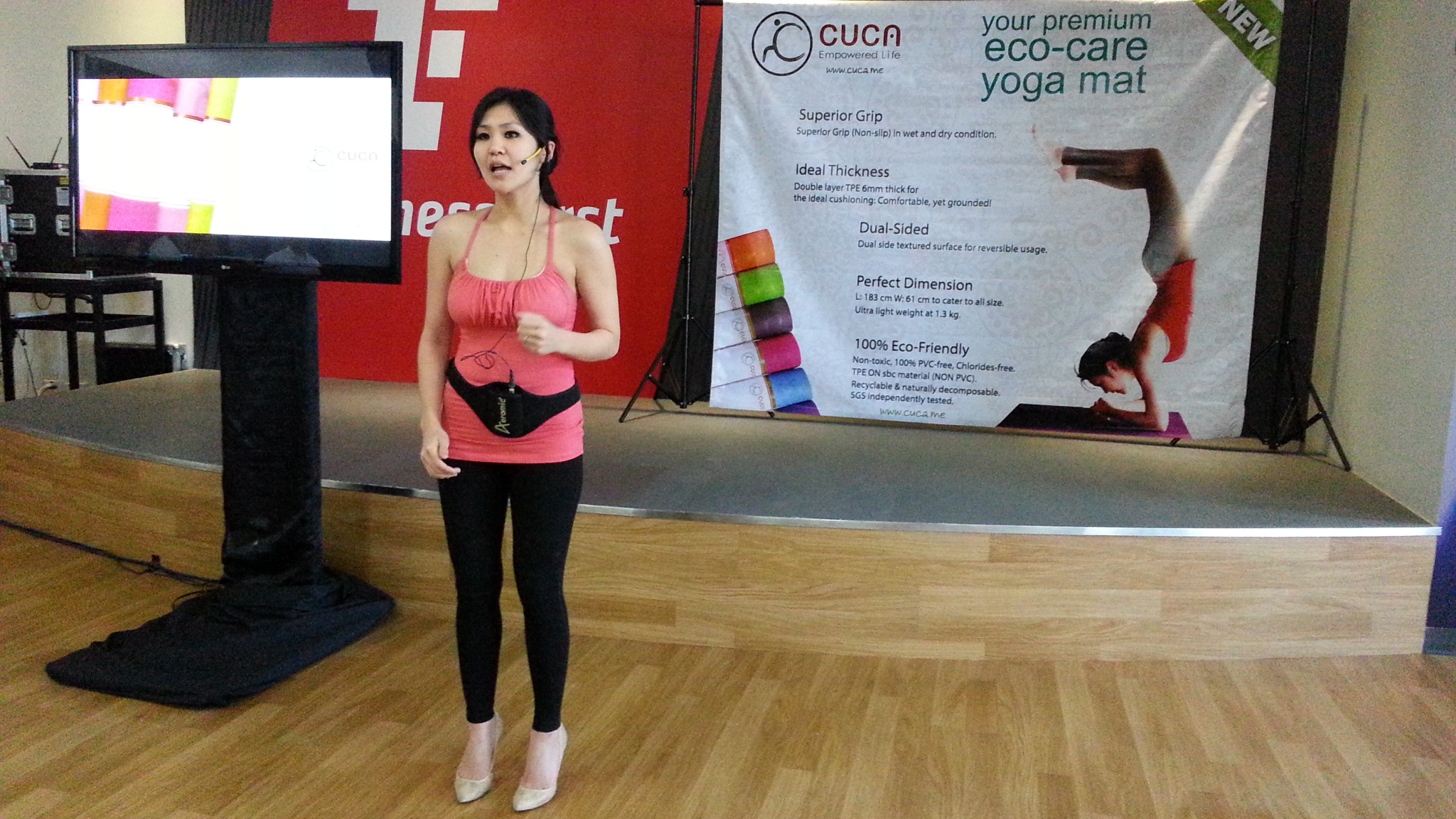Meet The Cuca Eco Care Yoga Mat Yogini From Manila Matras 8mm Tpe Rubber Anti Slip Bag Limited Edition Priscilla Aliwarga Cucas Ceo On Fire