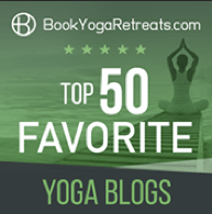 BookYogaRetreats top 50 yoga blogs