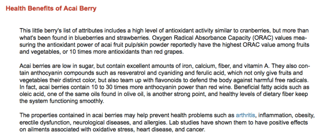 Health benefits of acai berry-mercola.com