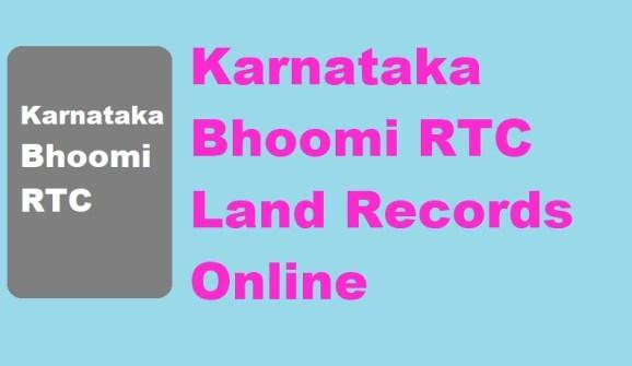 Bhoomi RTC Karnataka 2021