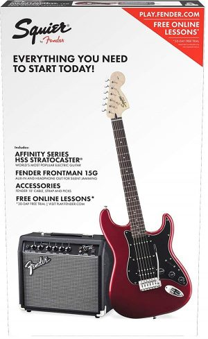 Squier by Fender Affinity Series Stratocaster Beginner Electric Guitar Pack - HSS