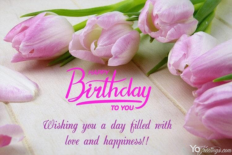 Beautiful Flowers For Birthday Wishes Card Images