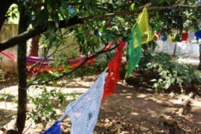 Garden of Yog Temple in North Goa, India
