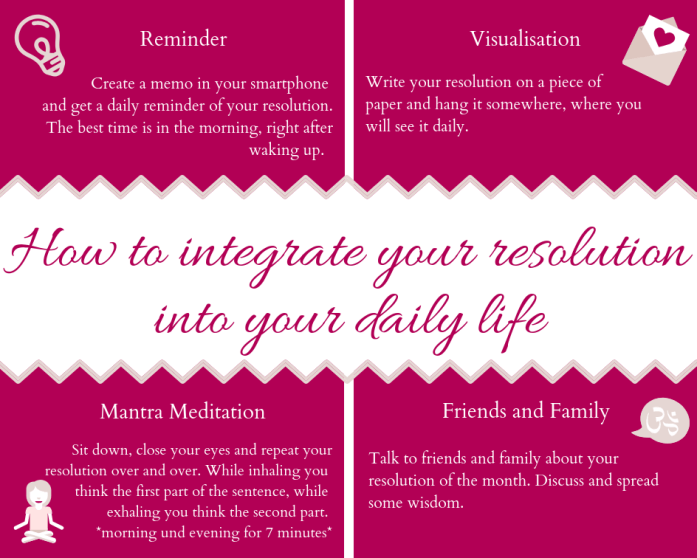 How to integrate this resolution into your daily life 1 - New Month Resolution - April
