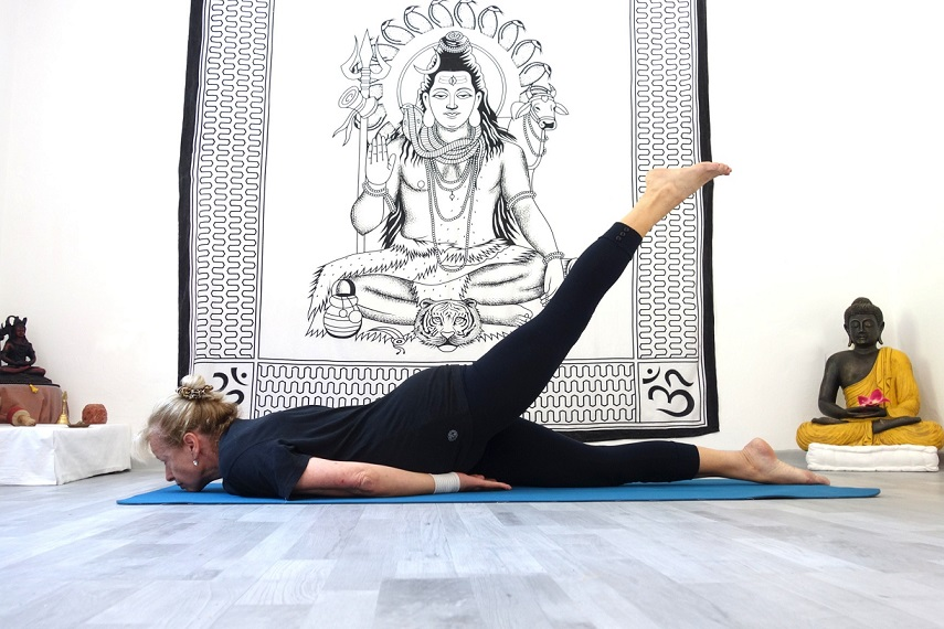 ardhashalabhasana yogtemple - Yoga Asana Glossary