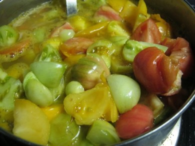 cooking down tomatoes