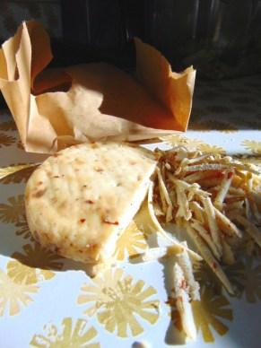 shredded milk kefir cheese