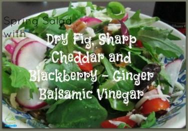 Dry Fig, Cheddar, Snap Pea, Balsamic Salad