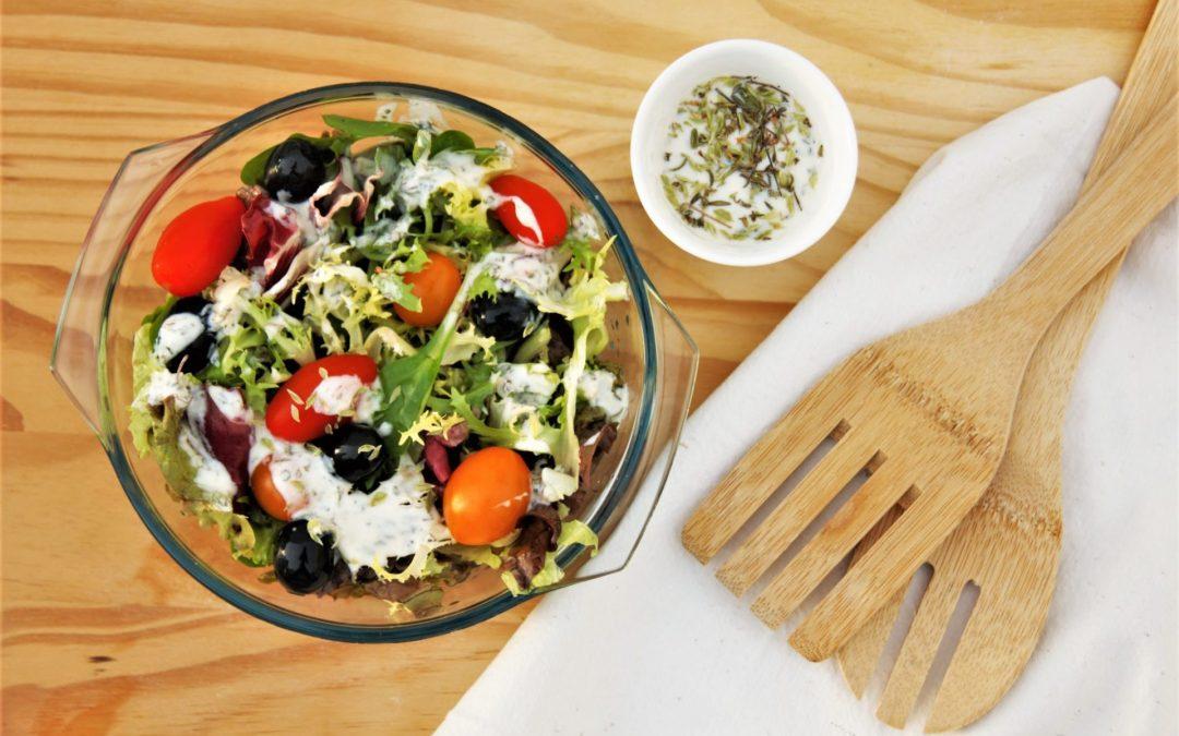 Yogurt and herbs salad dressing