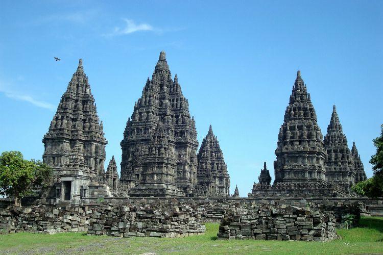 Prambanan Temple the biggest Hindhu temple of Indonesia
