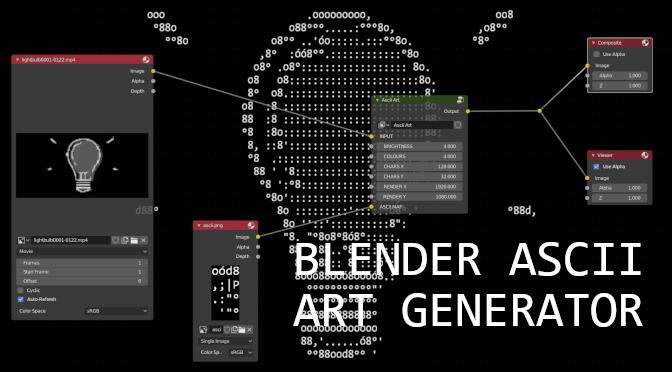 Blender Ascii Art Generator