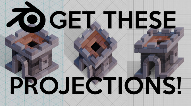 Oblique Projections in Blender