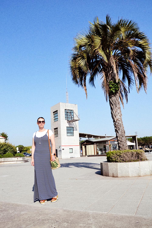 vestido largo de rayas 1