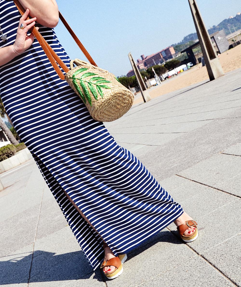 vestido largo de rayas 8