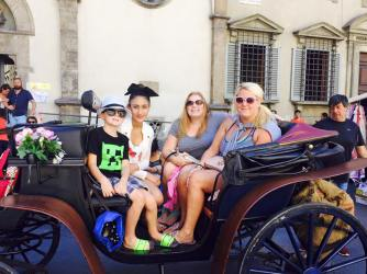 Carriage ride in Florence!
