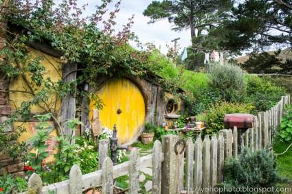Yellow painted Hobbit door