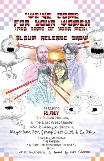 Album Release Show @ The Phoenix w/ The Naked Heroes and The East West Quintet