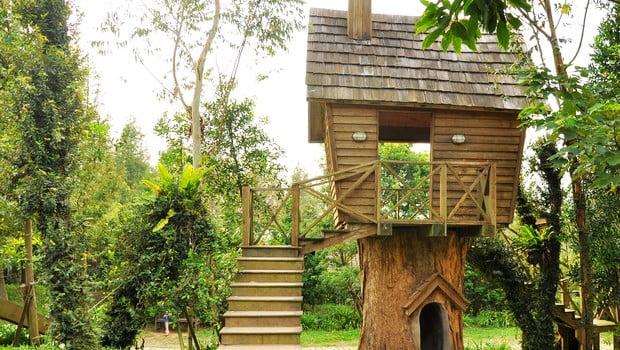 苗栗卓蘭景觀餐廳》villa villa魔法莊園~卡通版樹屋真實呈現
